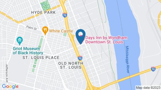 Days Inn by Wyndham Downtown St. Louis Map