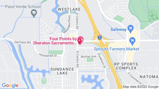 Four Points by Sheraton Sacramento International Airport Map