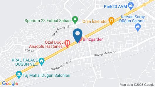 Birizgarden Hotel Map