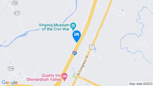 Days Inn by Wyndham New Market Battlefield Map