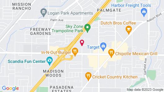 Crowne Plaza Hotel Sacramento Northeast Map