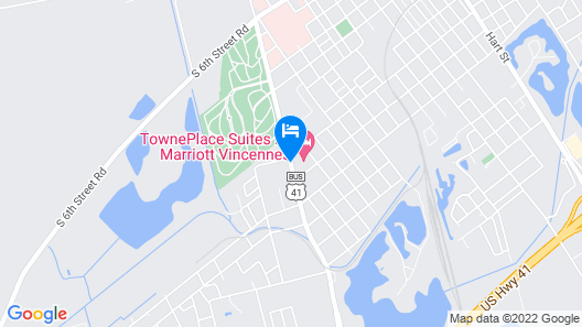 TownePlace Suites by Marriott Vincennes Map