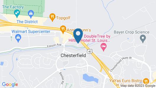 Hilton Garden Inn Chesterfield Map