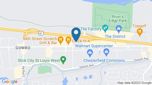 Hampton Inn & Suites St. Louis/Chesterfield Map