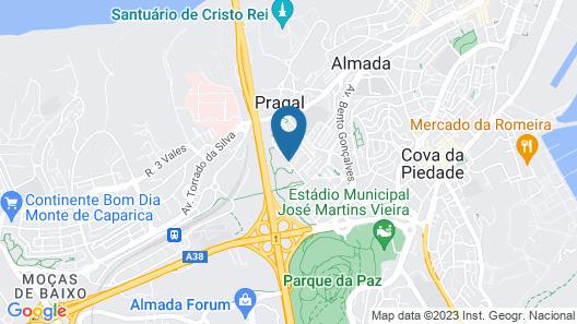 Mercure Lisboa Almada Map