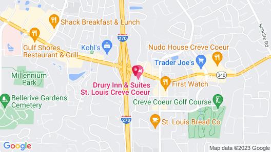 Drury Inn & Suites St. Louis Creve Coeur Map