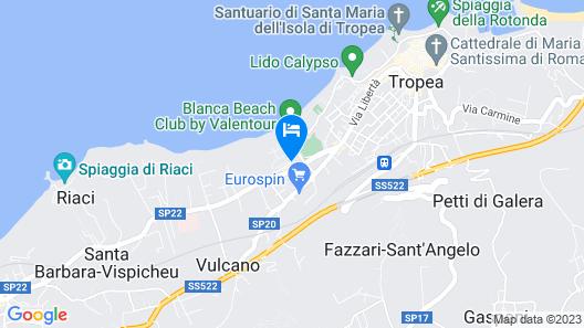 LABRANDA Rocca Nettuno Tropea Map