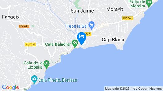 Villa Solhabitat Maroa Map