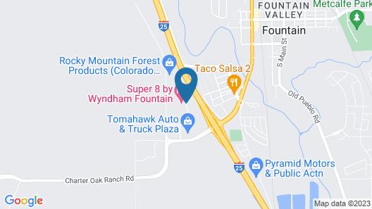 Super 8 by Wyndham Fountain Map