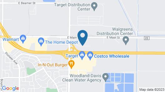 Fairfield Inn & Suites Sacramento Airport Woodland Map