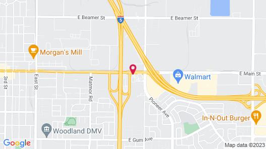 Motel 6 Woodland, CA – Sacramento Airport Map