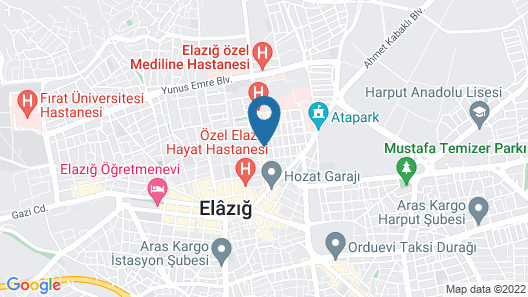 Grand Aras Hotel Map