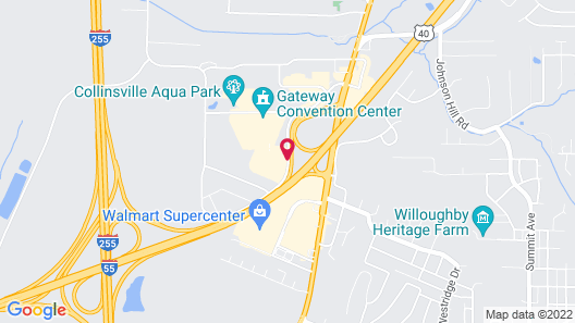 DoubleTree by Hilton Collinsville - St. Louis Map