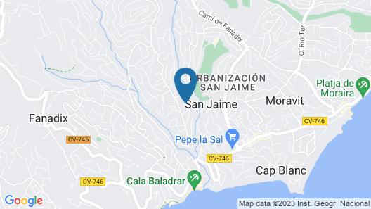 Gila - sea view villa with private pool in Benissa Map