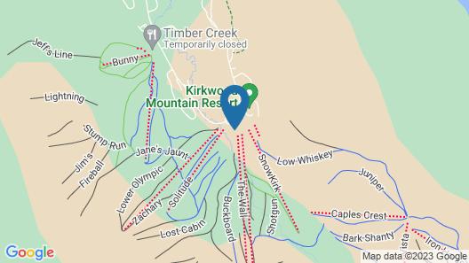 Mountain Club at Kirkwood - Ski In/Ski Out & Affordable Studio #225 Map