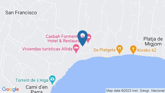 Hostal Casbah Map