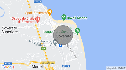Apartment in Soverato Three Minutes Walk From the Seafront and the Beaches -settembre Map