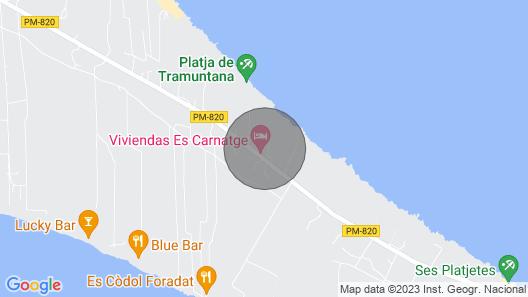 Apartamentos Tramuntana finds tranquility in the center of Formentera Map