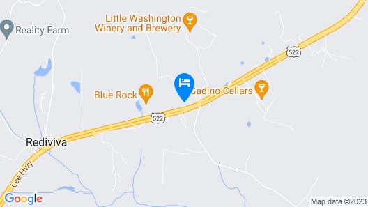 LeFay Cottage at Little Washington Map