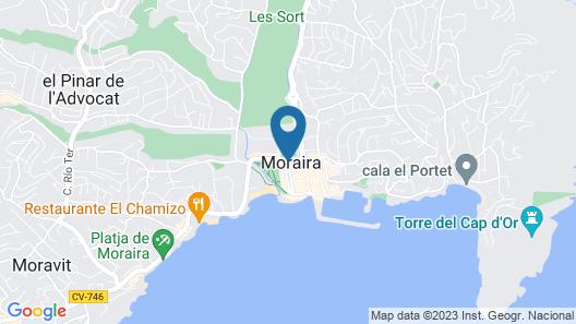 Isabella - seaview apartment in Moraira Map