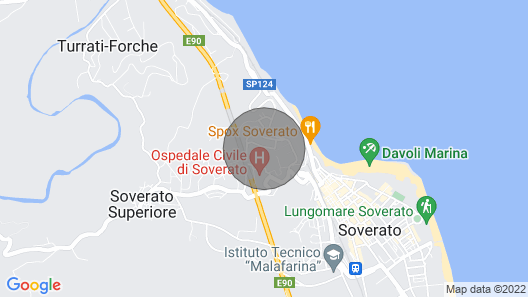 2 Bedroom Accommodation in Soverato CZ Map