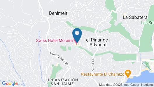 Hotel Swiss Moraira Map