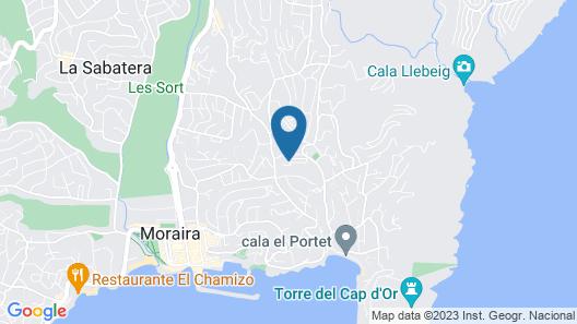 Casa Pedana Luxury Ibizan Style 4 Bedroomed Villa in El Portet Map