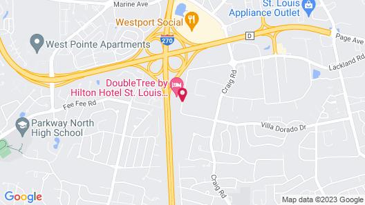 DoubleTree by Hilton Hotel St. Louis Westport Map
