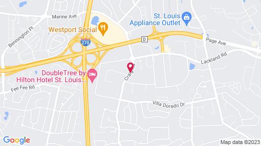 Days Inn and Suites by Wyndham St. Louis/Westport Plaza Map