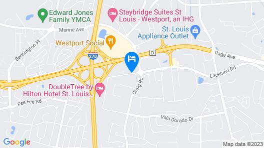 Comfort Inn St Louis - Westport Map