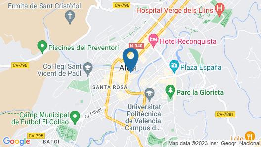 Hotel Sercotel Ciutat d'Alcoi Map