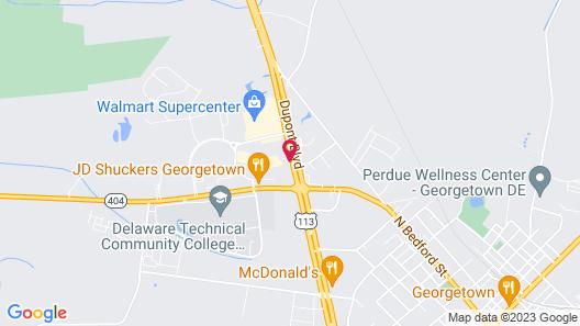 Quality Inn & Suites Georgetown - Seaford Map