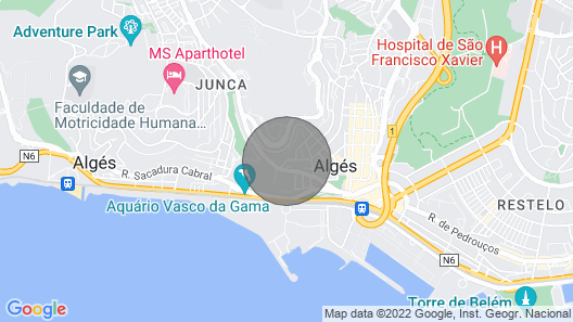 Fantastic River View on Your Stay in Lisbon Map