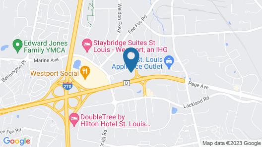 Residence Inn St Louis Westport Map