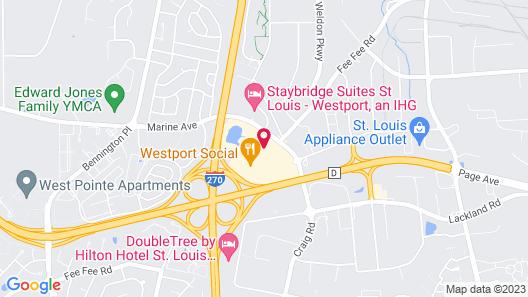 Sheraton Westport Plaza Hotel St. Louis Map