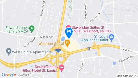 Sheraton Westport Chalet Hotel St. Louis Map
