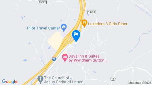 Sutton Lane Motel Map