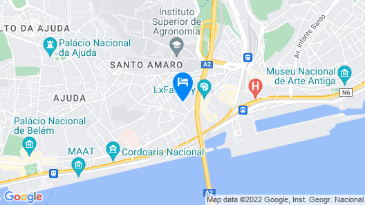 Quiet and Sunny central Lisbon apartment Map