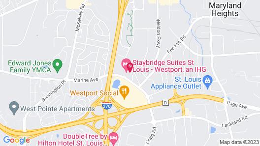 Staybridge Suites St Louis - Westport, an IHG Hotel Map