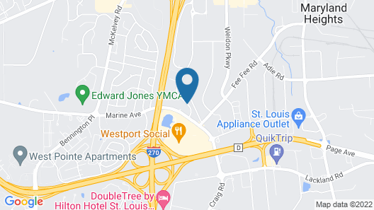 Staybridge Suites St Louis - Westport, an IHG Hotel Map
