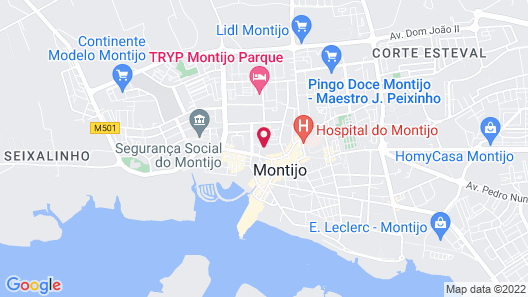 Apartment With one Bedroom in Montijo, With Wifi Map
