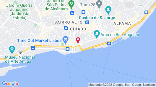 Corpo Santo Lisbon Historical Hotel Map