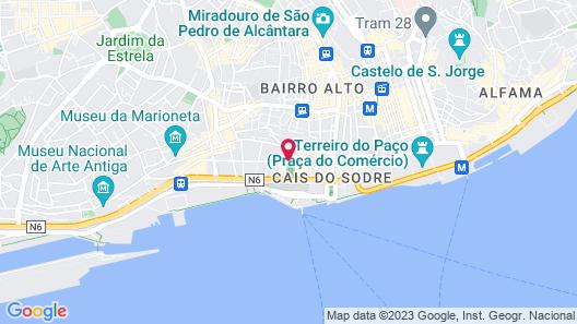 Lisbon Five Stars Apartments 8 Building Map