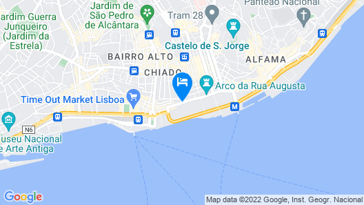 Lisbon Arsenal Suites Map
