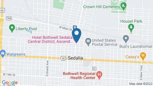 Hotel Bothwell Sedalia Central District, Ascend Hotel Collection Map