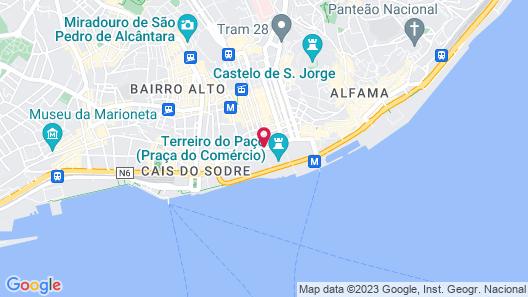 Pousada de Lisboa, Praça do Comércio - Monument Hotel Map