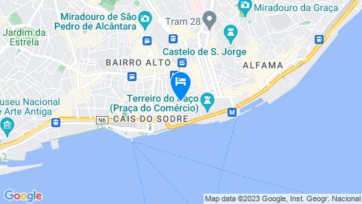 AlmaLusa Baixa & Chiado Map
