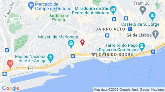 Lisbon Serviced Apartments Santos Map