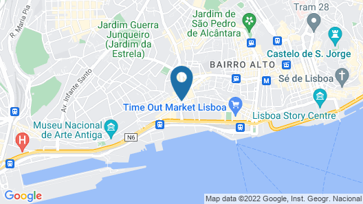 Lisbon Serviced Apartments Santos Map