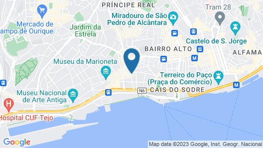 Hello Lisbon Conde Barão Apartments Map